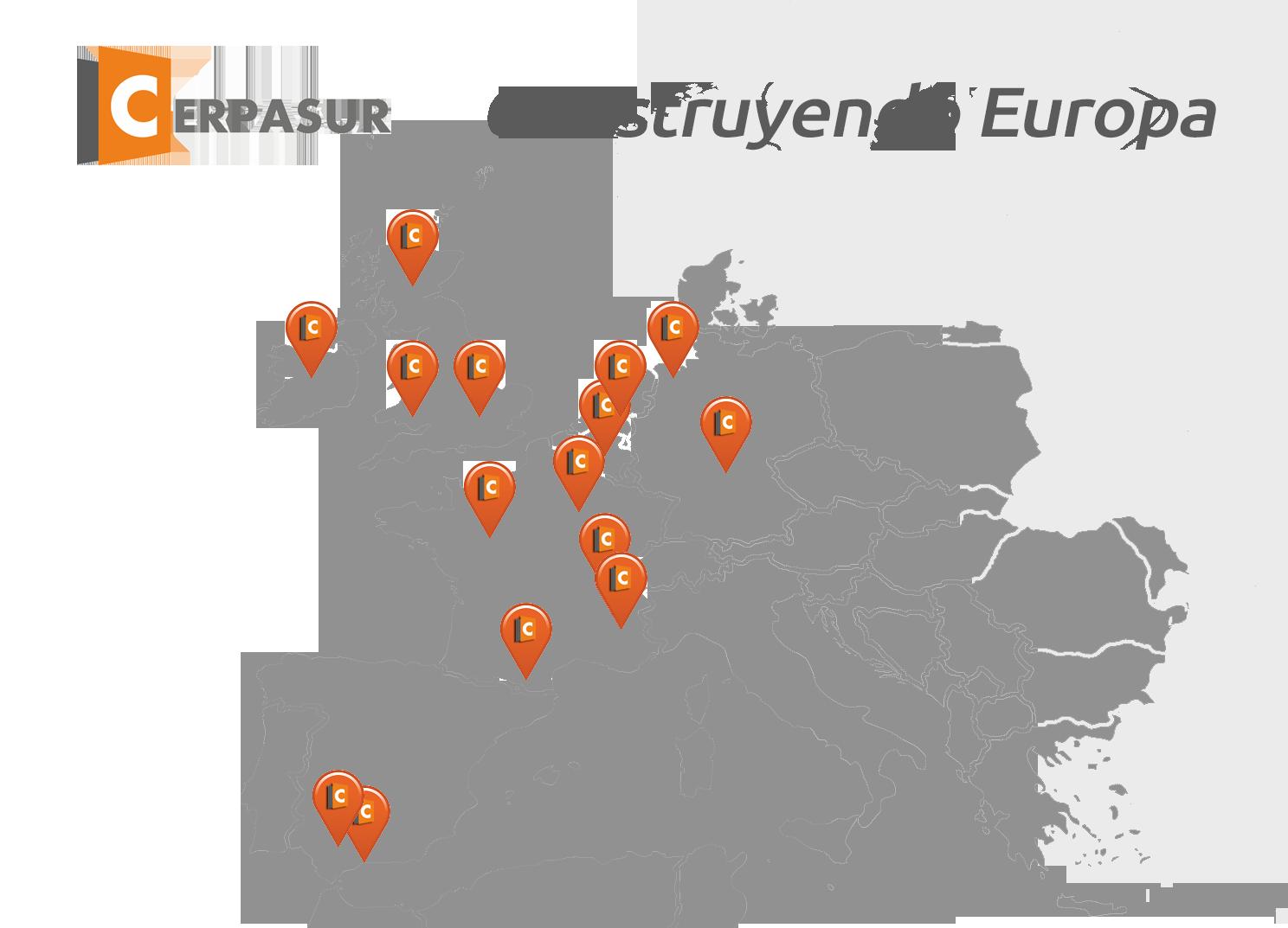 Cerpasur en toda Europa construyendo tiendas retail y edificaciones